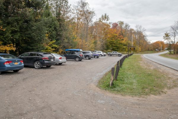 Parking area for Salmon River Falls Unique Area
