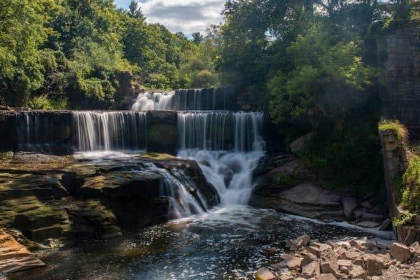 Seneca Mills Falls on the Keuka Lake Outlet Trail in Yates County NY