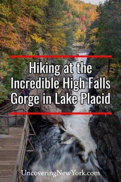 Hiking at High Falls Gorge in Lake Placid, New York