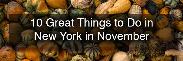 Things to do in New York in November