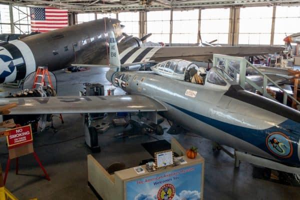 Hangar at the American Airpower Museum in Farmingdale NY