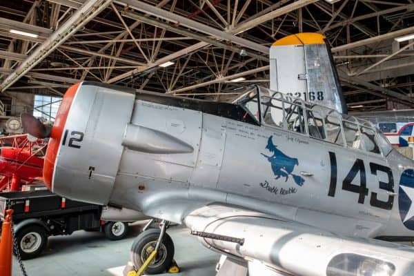 Inside the American Airpower Museum on Long Island NY