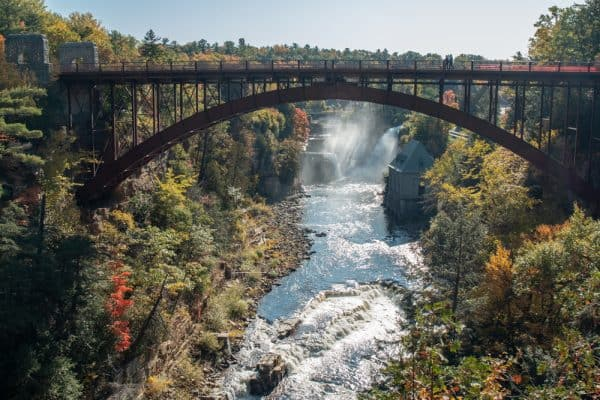Bridge over Ausable River in Au Sable New York