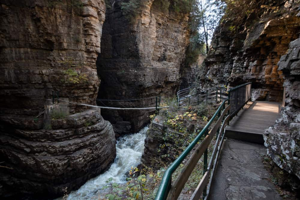 Hiking the trails at Ausable Chasm in the Adirondacks