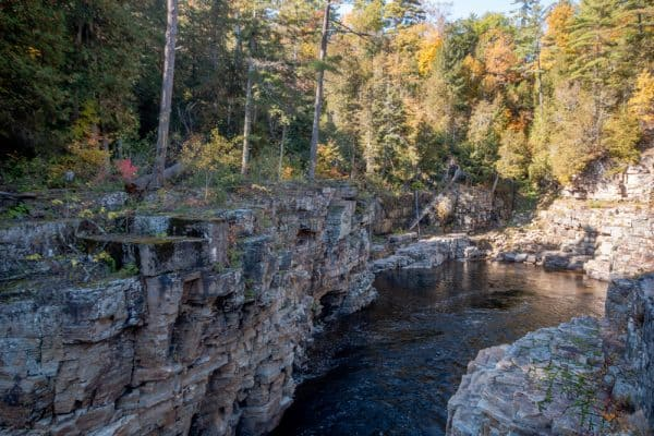 Lower part of Ausable Chasm in Essex County NY