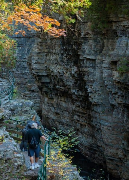 Inner Sanctum Trail at Ausable Chasm in New York
