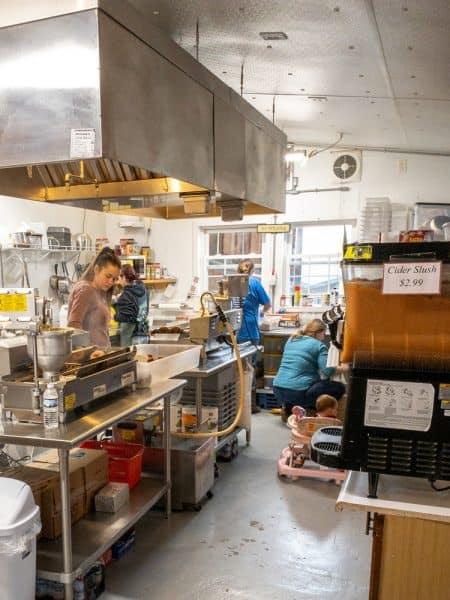 Inside Burrville Cider Mill in Burrville New York