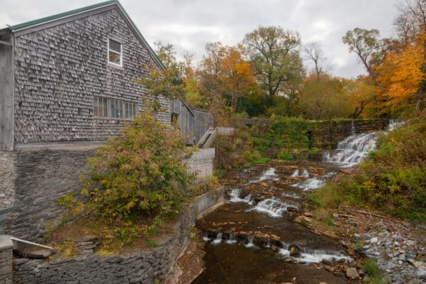 Burrville Cider Mill and its Waterfall in Watertown NY