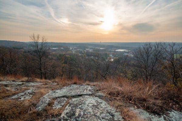 View from vista at Buttermilk Falls Park near Nyack NY
