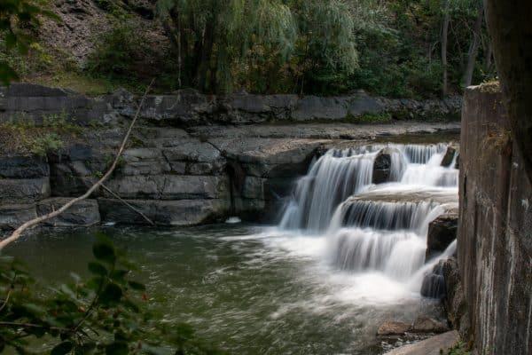 Cascade Mills Falls on the Keuka Lake Outlet near Dresden NY
