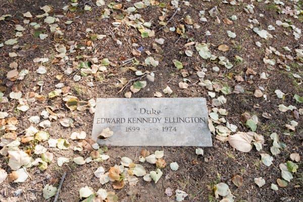 Duke Ellington's grave in New York City