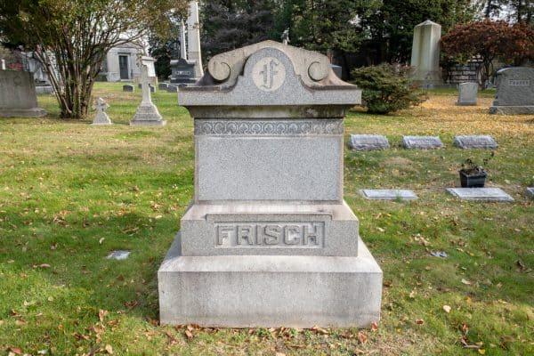 Frank Frisch Grave in the Bronx New York