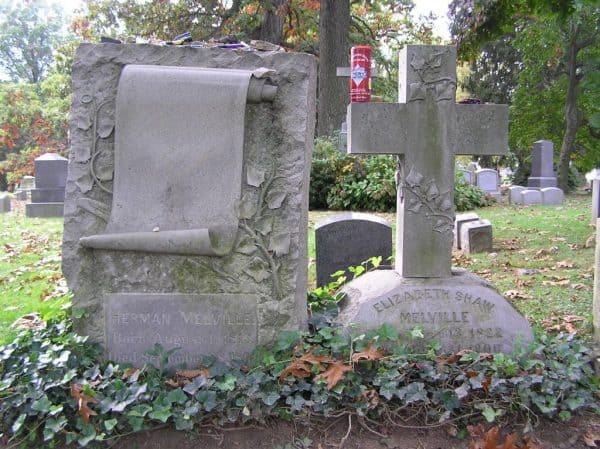 Herman Melville's Grave in Woodlawn Cemetery in Bronx NY
