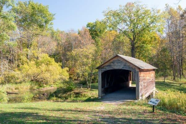 Hyde Hall Covered Bridge in Otsego County, NY
