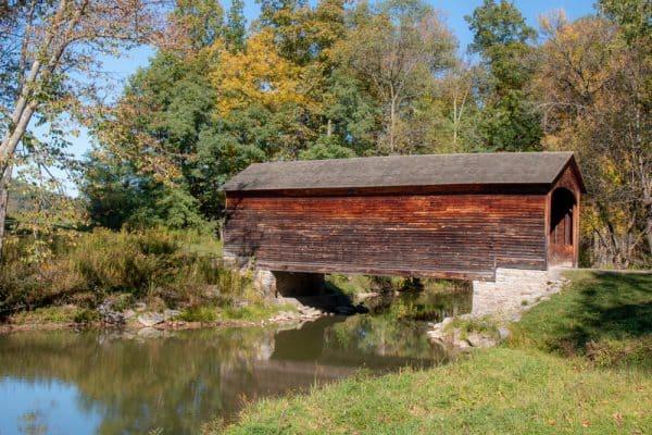 Hyde Hall Covered Bridge in Otsego County NY