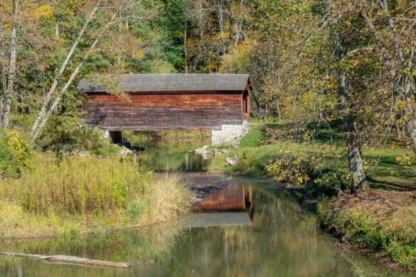 Hyde Hall Covered Bridge in Glimmerglass State Park