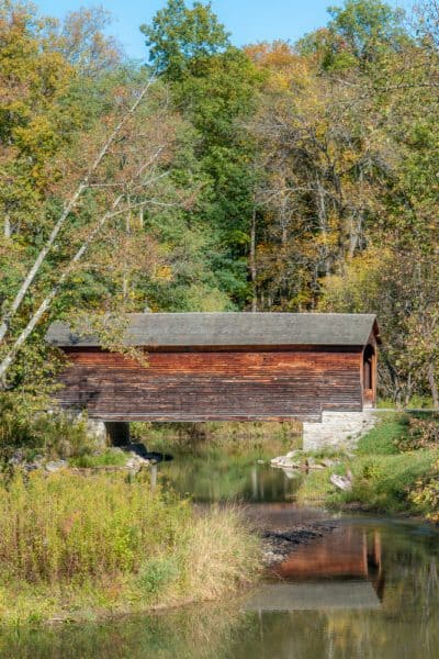 Hyde Hall Covered Bridge near Cooperstown, New York