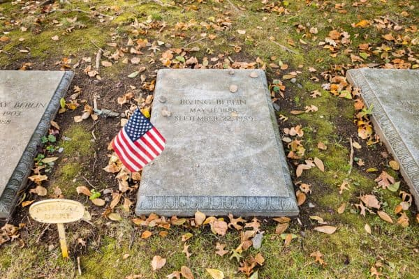 Irving Berlin's grave in Woodlawn Cemetery in the Bronx