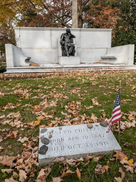 Grave of Joseph Pulitzer in Woodlawn Cemetery in New York City