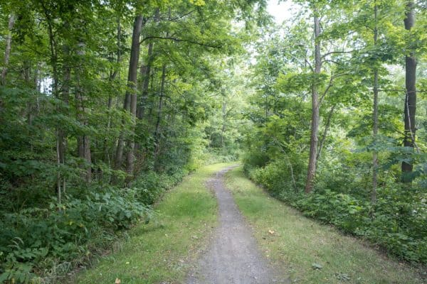 Keuka Lake Outlet Trail near Cascade Mills Falls in the Finger Lakes