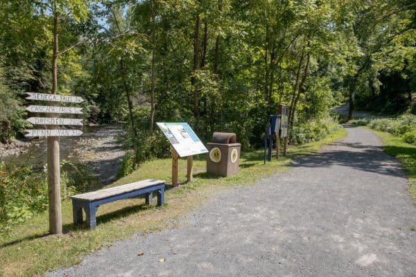 Keuka Lake Outlet Trail in Yates County NY