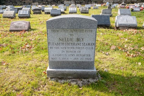 Gravesite of Nellie Bly in Woodlawn Cemetery in the Bronx NY