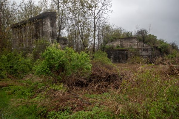 Lehigh Valley Railroad ruins in Phelps New York