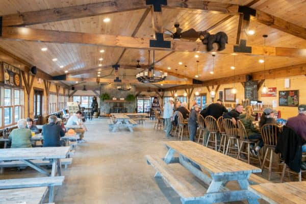 Tasting room at Raquette River Brewing in Tupper Lake New York