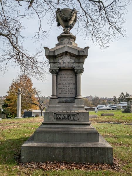 Rowland Macy's Grave in Woodlawn Cemetery