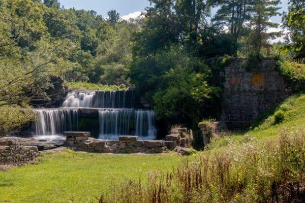 Seneca Mill Falls on the Keuka Lake Outlet Trail in Yates County NY