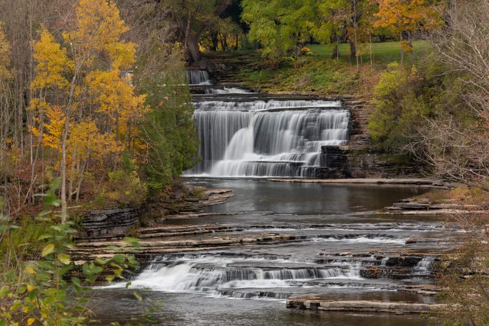 Talcottville Falls from NY-12D near Boonville NY