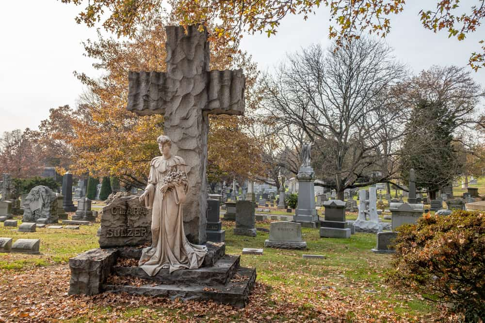 Famous graves in Woodlawn Cemetery in the Bronx, New York