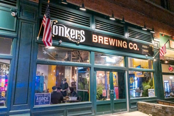 Exterior of Yonkers Brewing Company in Yonkers New York