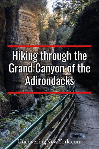 Hiking the trails at Ausable Chasm in the Adirondacks of New York