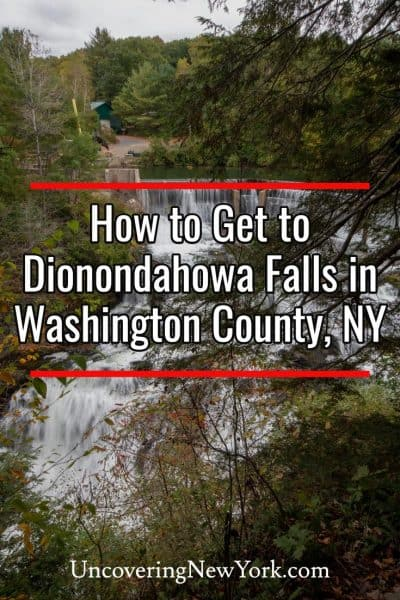 How to get to Dionondahowa Falls in Washington County New York