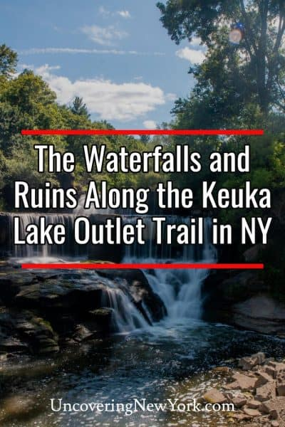 Hiking to the waterfalls and ruins on the Keuka Lake Trail in New York