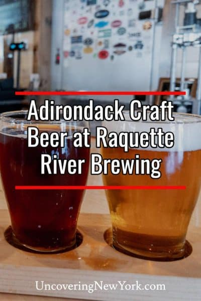 Tasting craft beer in the Adirondacks at Raquette River Brewing in Tupper Lake, New York