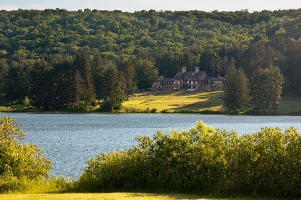 Lake in Allegany State Park in New York