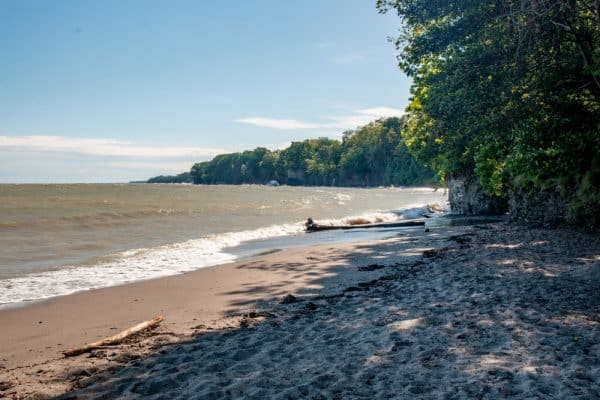 Westlake Public Beach along the shores of Lake Erie in southwestern New York