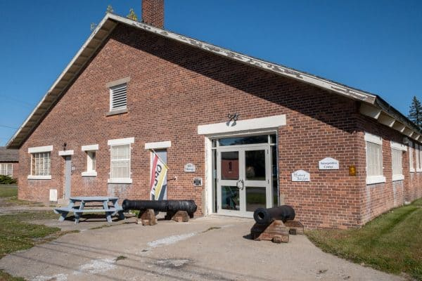 The exterior of the War of 1812 Museum in Plattsburgh, NY