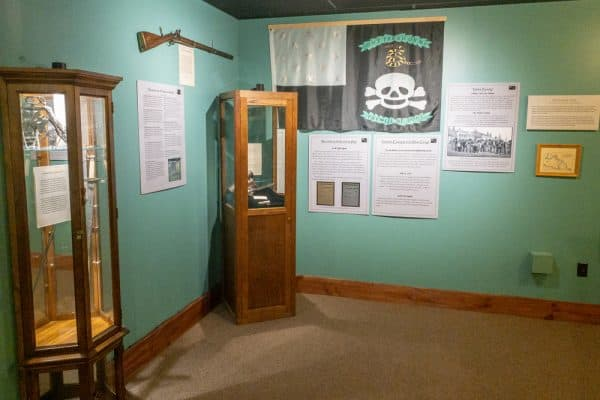 Inside the War of 1812 Museum in Clinton County NY