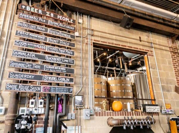 Beer list at Fifth Hammer Brewing in Queens NY