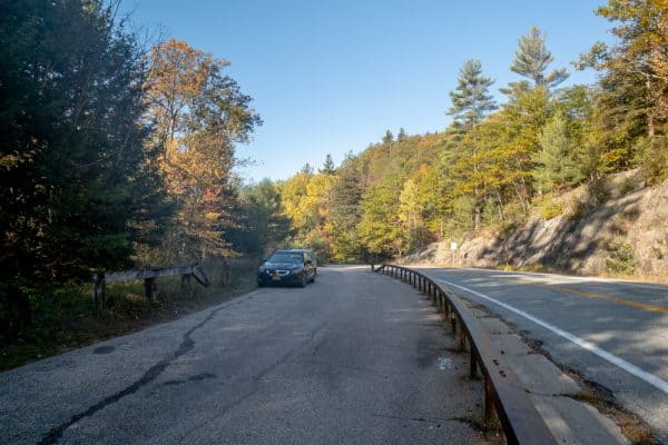 Parking for Split Rock Falls near Lake Placid NY