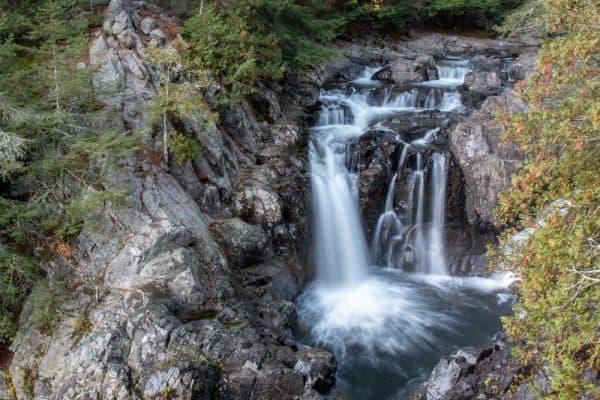 Split Rock Falls in the Adirondacks of New York