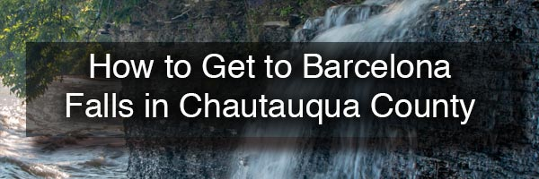 How to get to Barcelona Falls in Chautauqua County NY