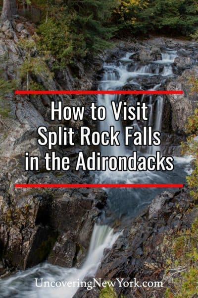 How to get to Split Rock Falls in the Adirondacks of New York