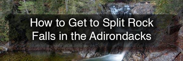 Split Rock Falls in New York's Adirondacks