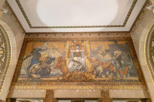 Art piece inside Buffalo City Hall in New York