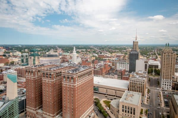 View from the the top of Buffalo City Hall