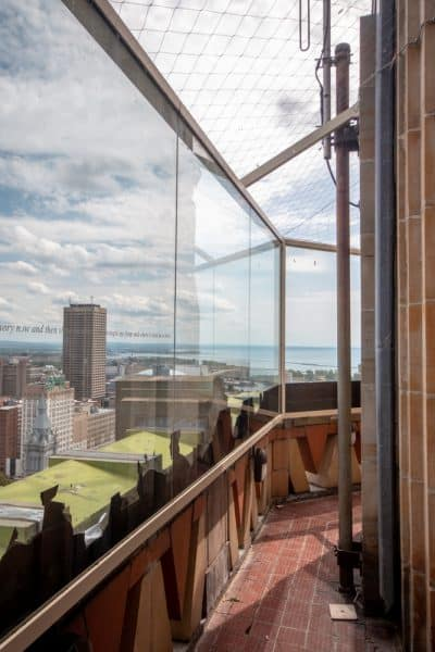 The outdoor observation deck at Buffalo City Hall in Erie County NY